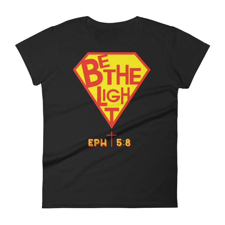 Be The Light Fitted T Shirt