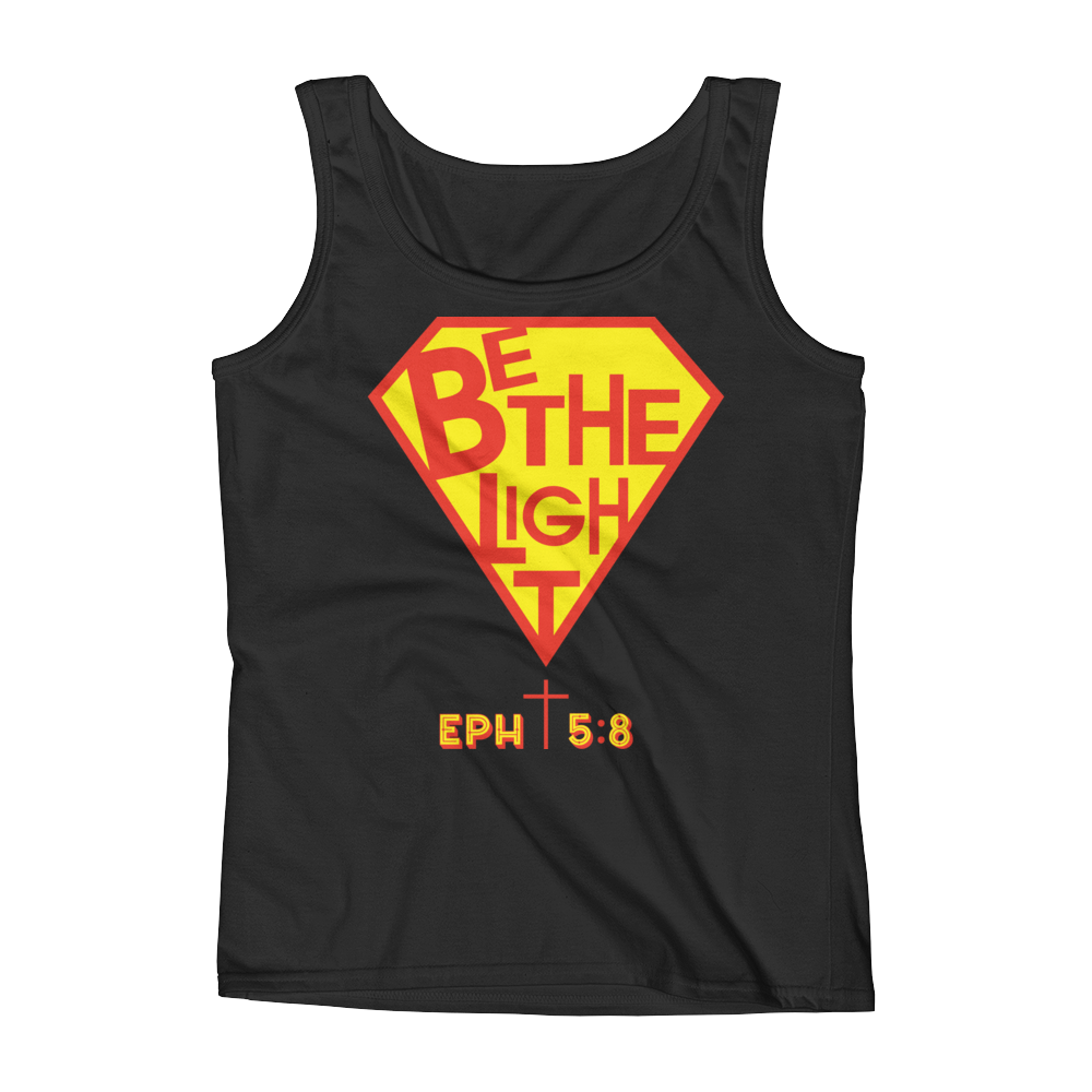 Christian Clothing Black Be The Light Tank Tops