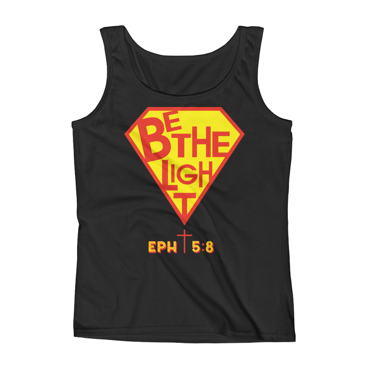 Be The Light Fitted Tank Tops