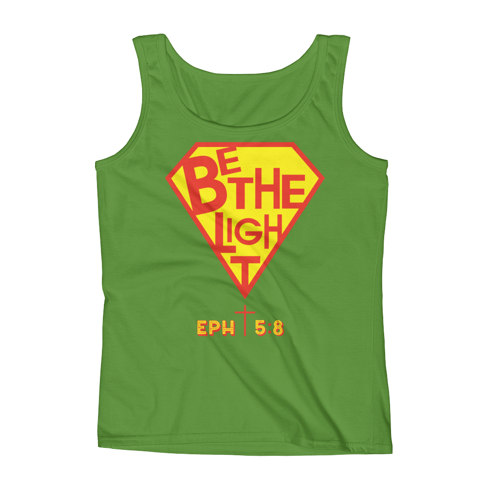 Christian Clothing Green Be The Light Tank Tops