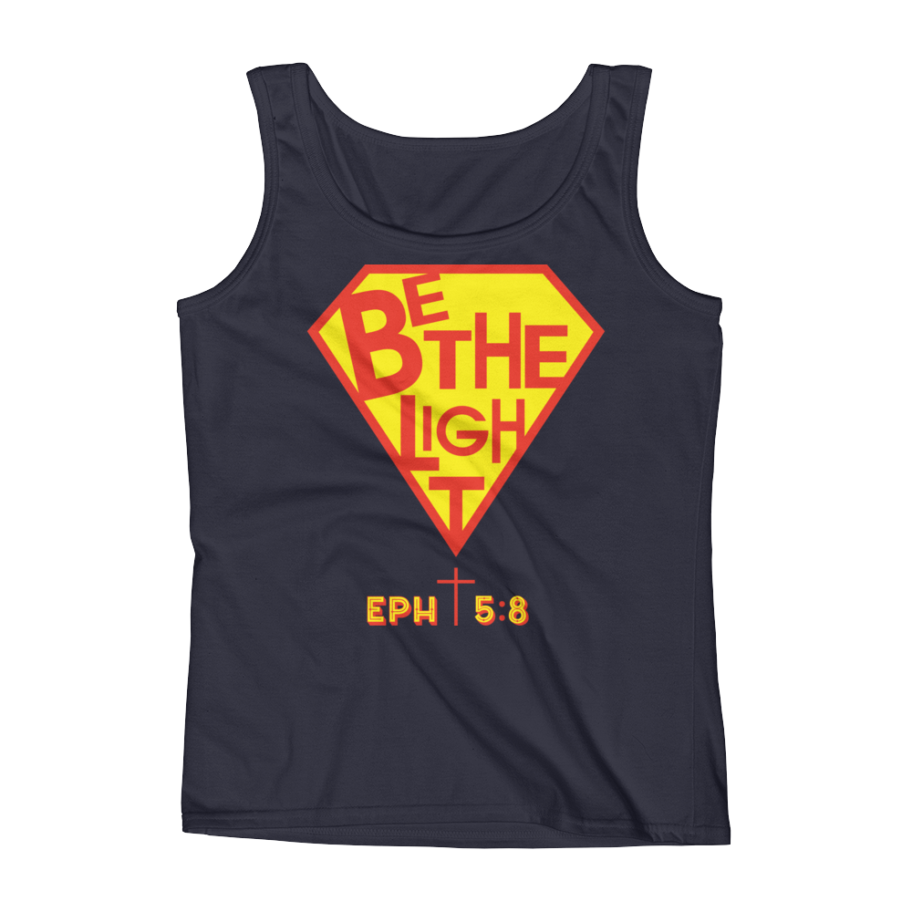 Navy Be The Light Tank Tops