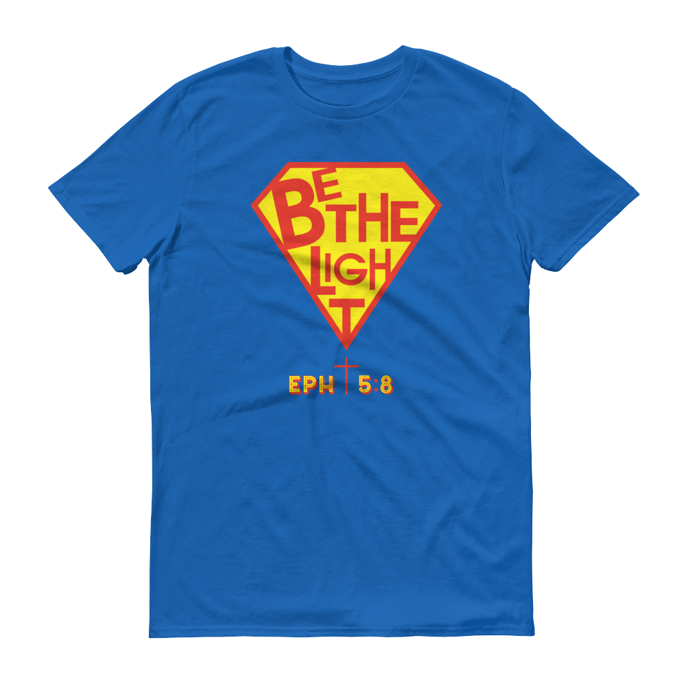 Christian Clothing Royal Blue Be The Light Design T-shirt