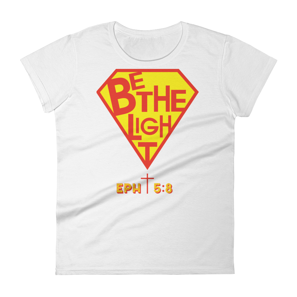 Christian Clothing White Be The Light Fitted Women's Tee