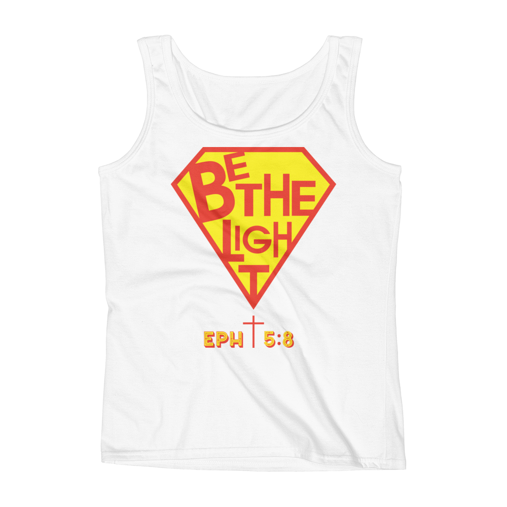 White Be The Light Tank Tops