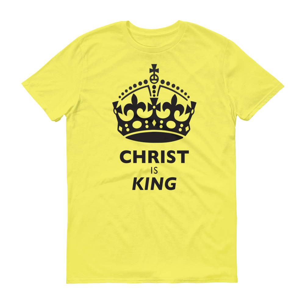 Yellow Christ is King Design Tee