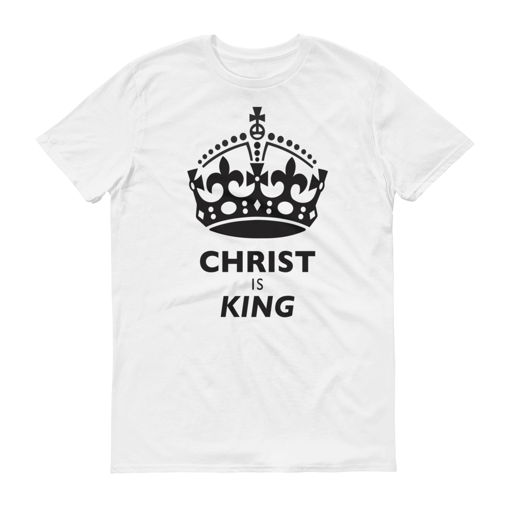 White Christ is King Design Tee