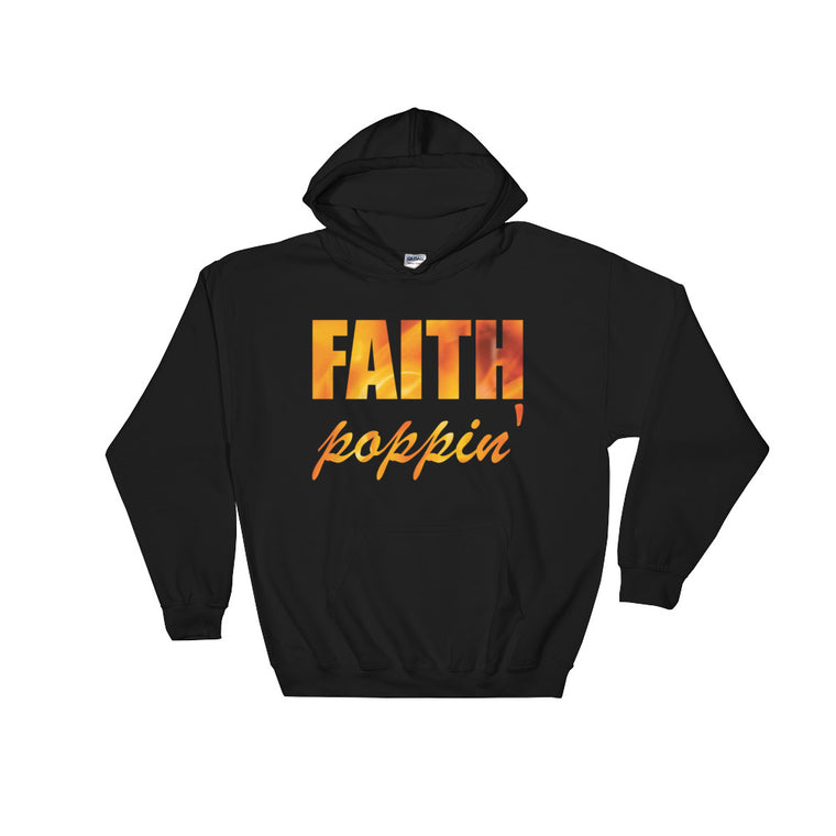 Faith Poppin' Hoodie - Gold Flame