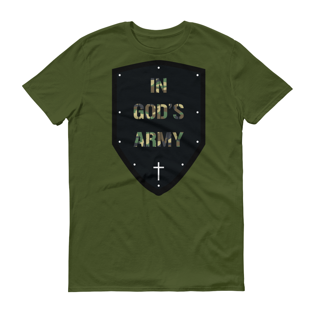 Christian Tees Green In Gods Army Design Tee