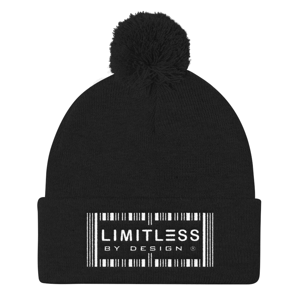 Christian Hats Black Limitless By Design Pom Pom Hat