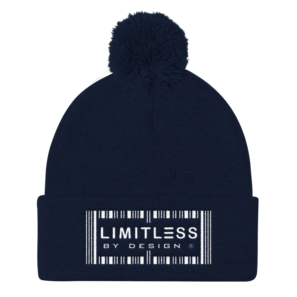 Christian Hoodies Blue Limitless By Design Pom Pom Hat