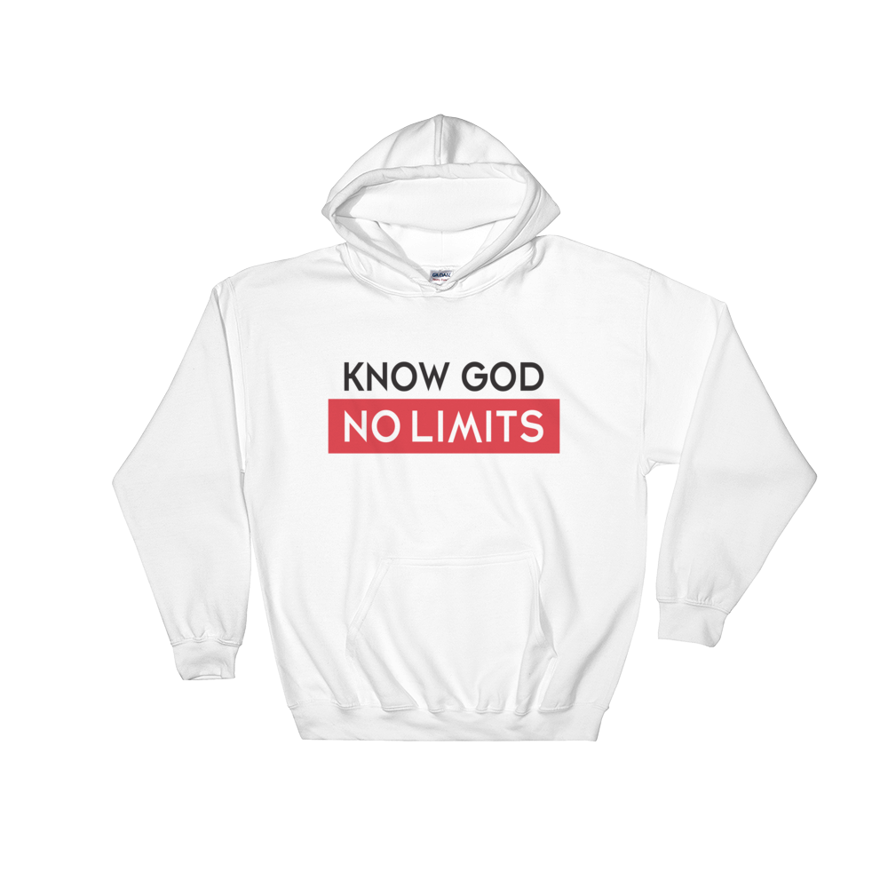 Christian Hoodies White Know God Design Hoodie