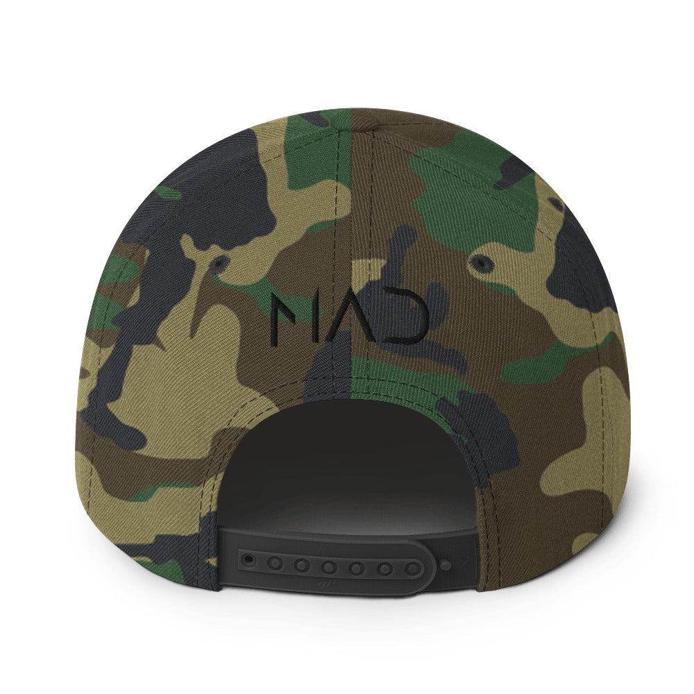 M.A.D Apparel God First Camo Edition Snapback Rear View