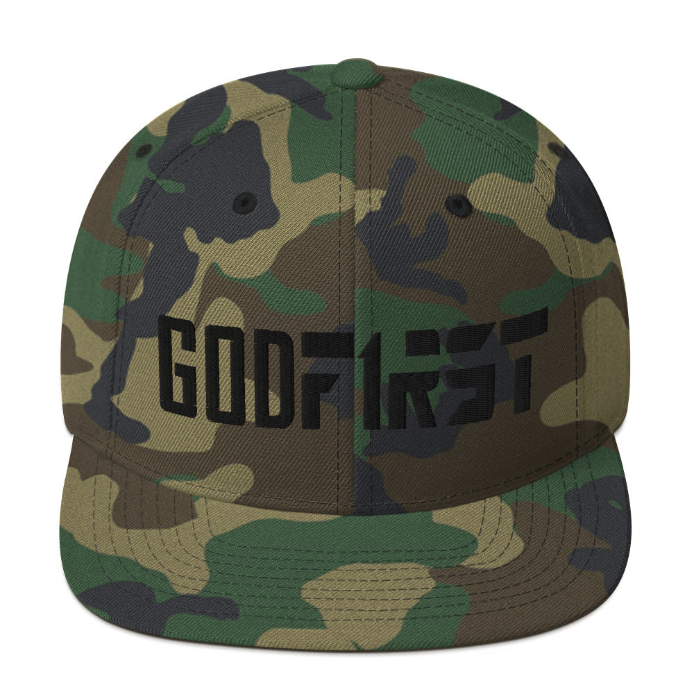 M.A.D Apparel God First Camo Edition Snapback