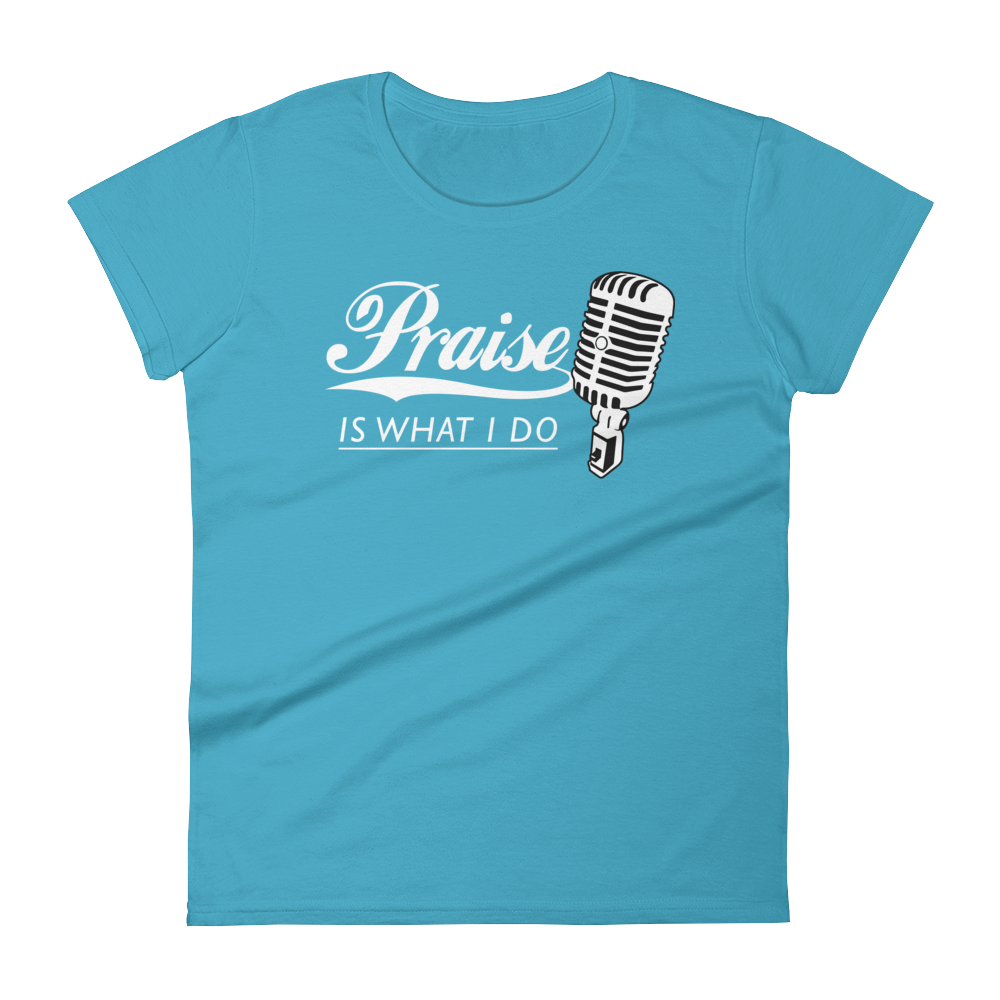 Christian Tees Blue Praise Design Tee