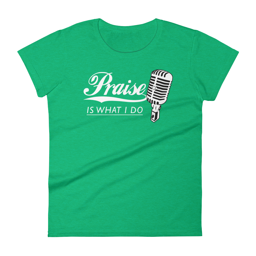 Christian Tees Green Praise Design Tee