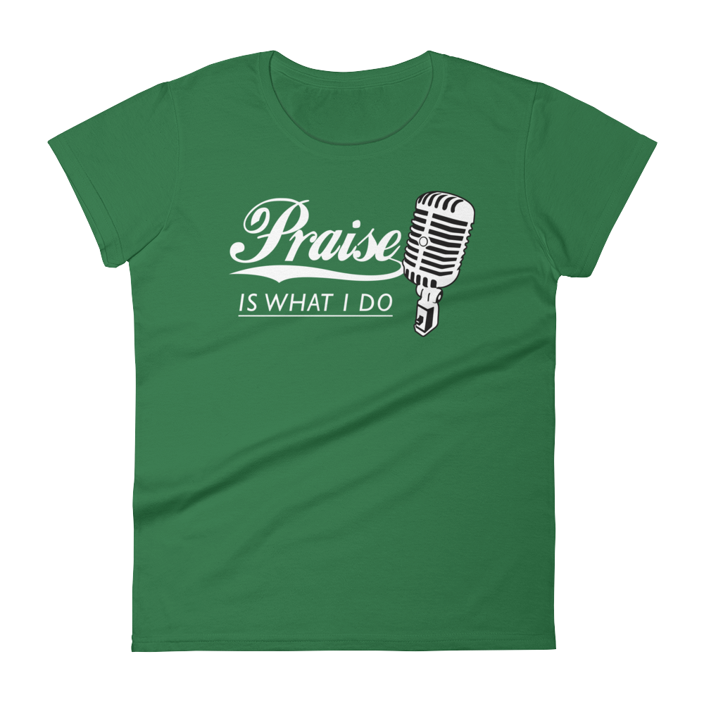Christian Tees Dark Green Praise Design Tee