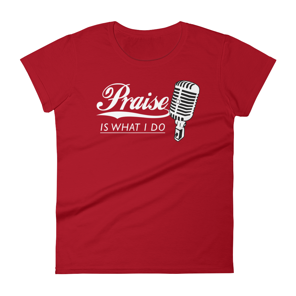 Christian Tees Red Praise Design Tee