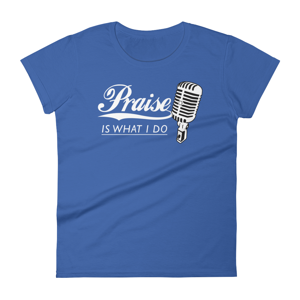 Christian Tees Royal Blue Praise Design Tee
