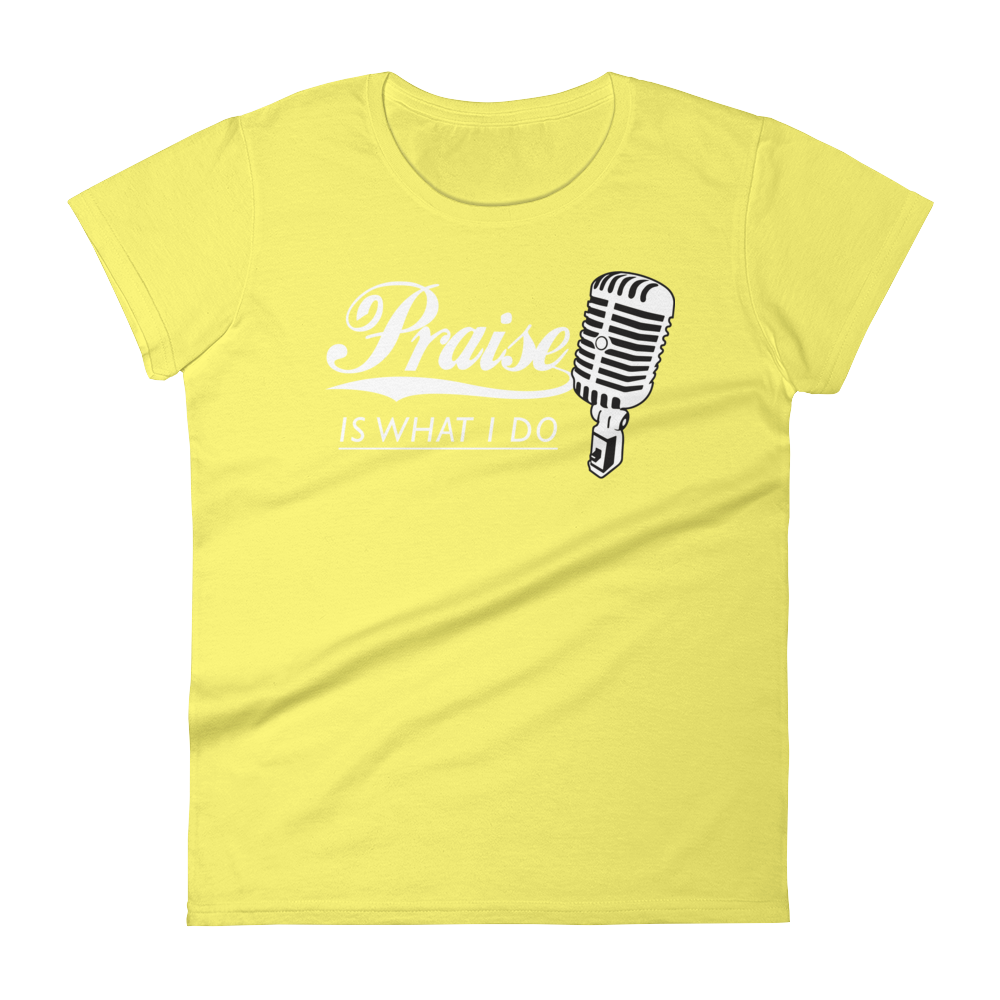 Christian Tees Yellow Praise Design Tee