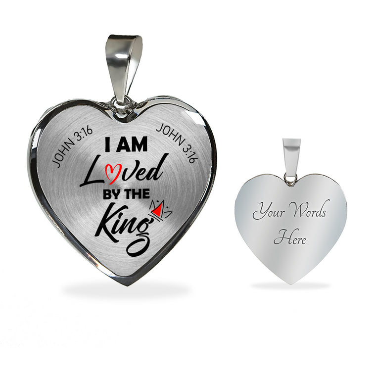 I Am Loved Silver Heart Pendant Necklace