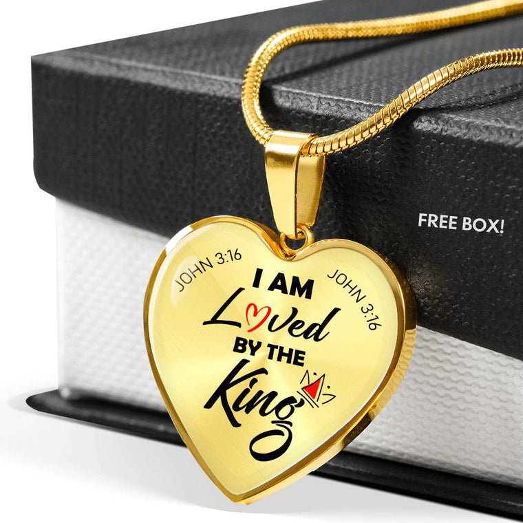 I Am Loved 18K Gold Heart Pendant Necklace