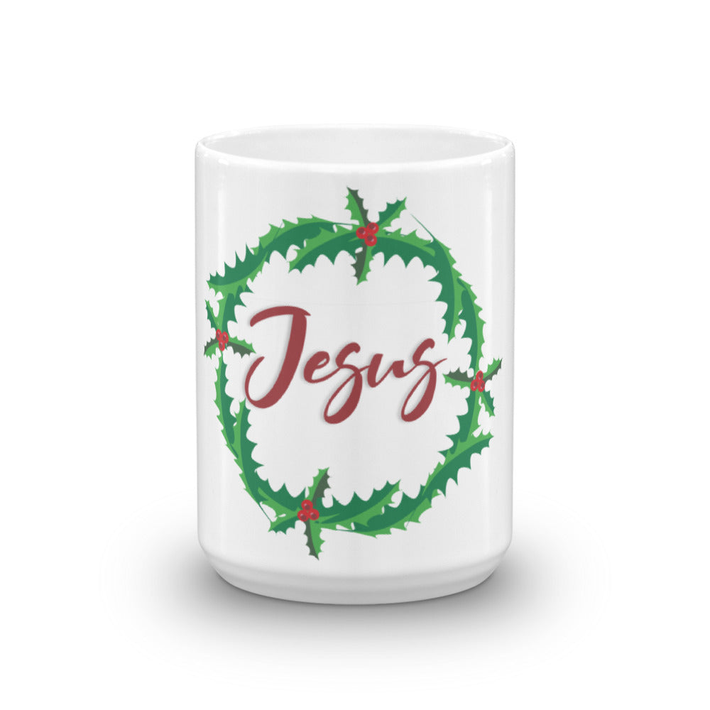 Christian Accessories White Ceramic Jesus Design Mug