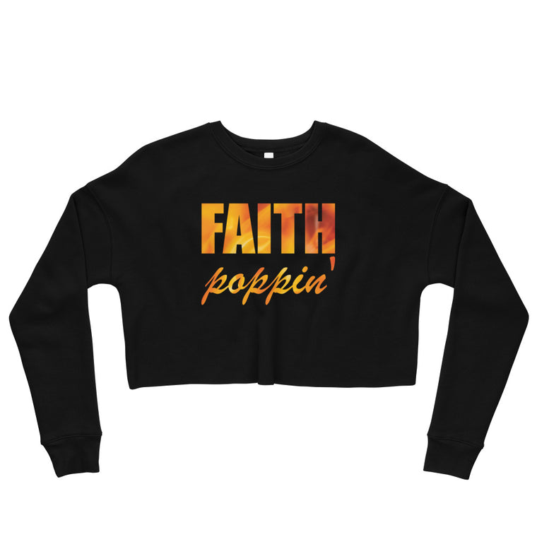 Faith Poppin' Cropped Sweatshirt