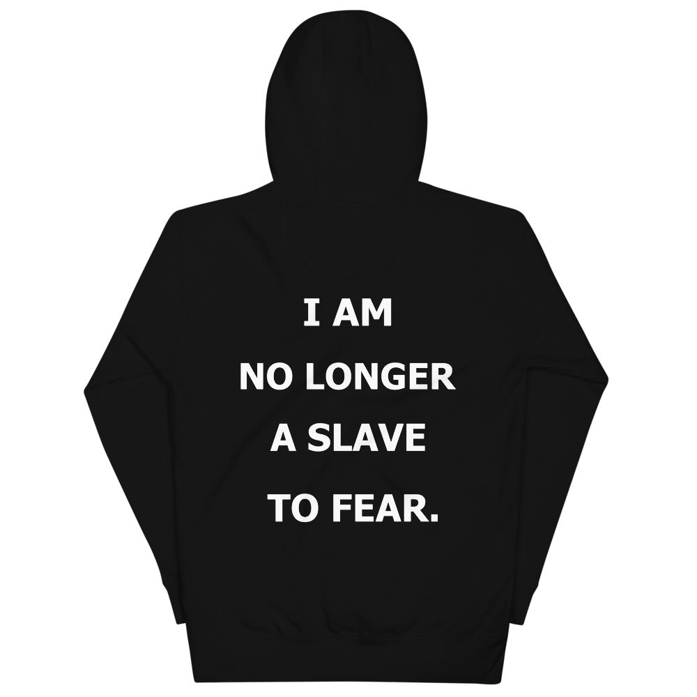 Christian Hoodies White with Black Child of God lettering to front and I am no longer a slave to fear on backChristian Hoodies Black with white Child of God lettering to front and I am no longer a slave to fear on back