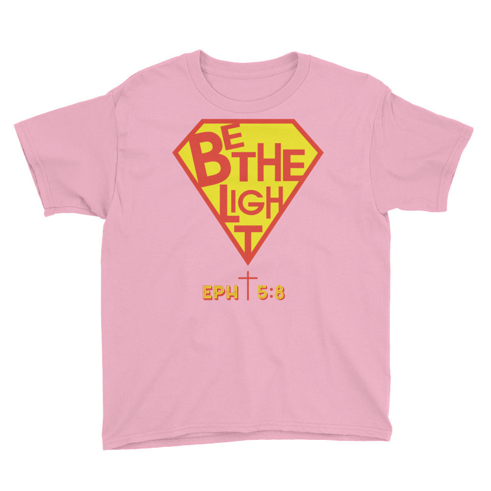 Christian Clothing Pink Be The Light Design Youth T-shirt