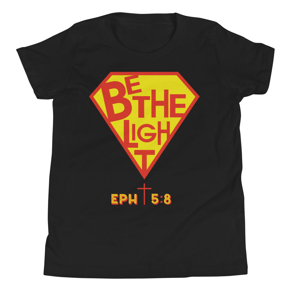 Christian Clothing Black Be The Light Design Youth T-shirt