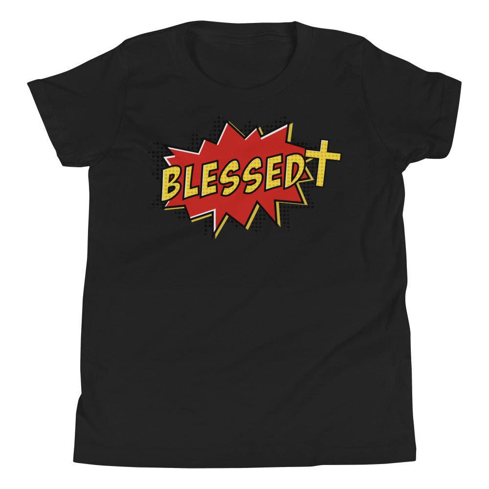 Christian Clothing Black Blessed Design Youth T-shirt
