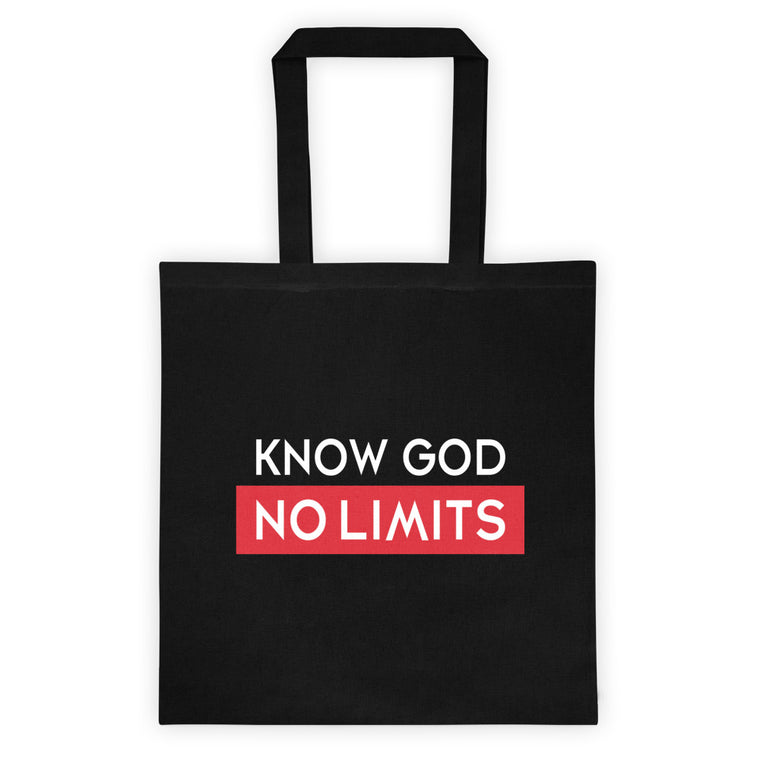 Know God No Limits Tote bag