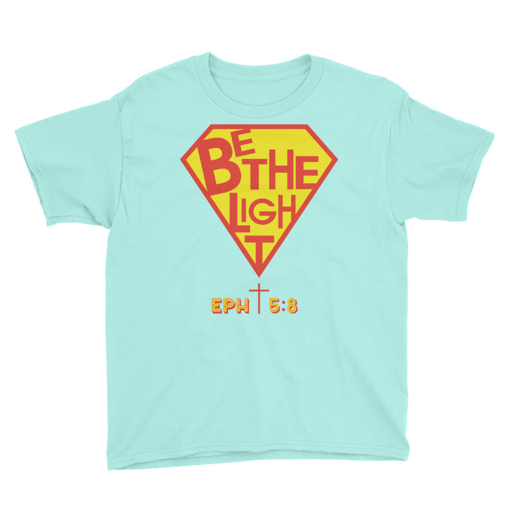 Christian Clothing Teal Be The Light Design Youth T-shirt
