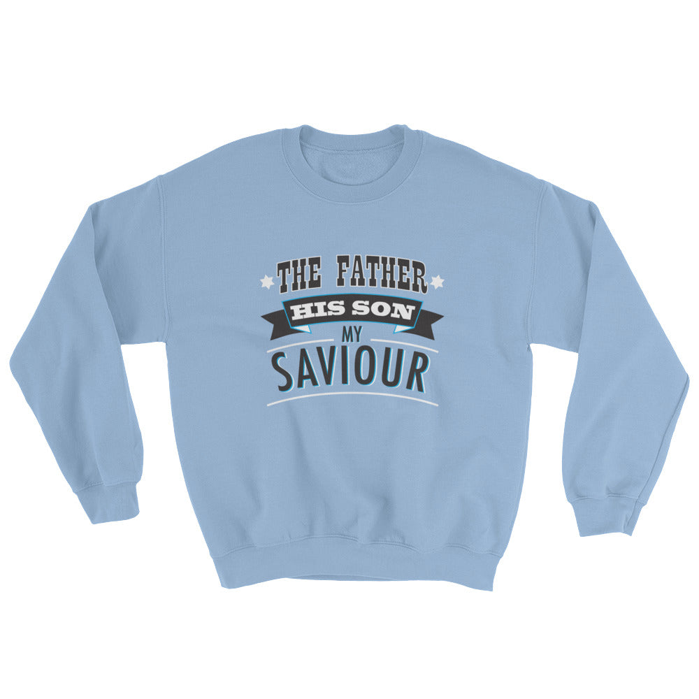 Christian Clothing Blue The Father Design Sweatshirt
