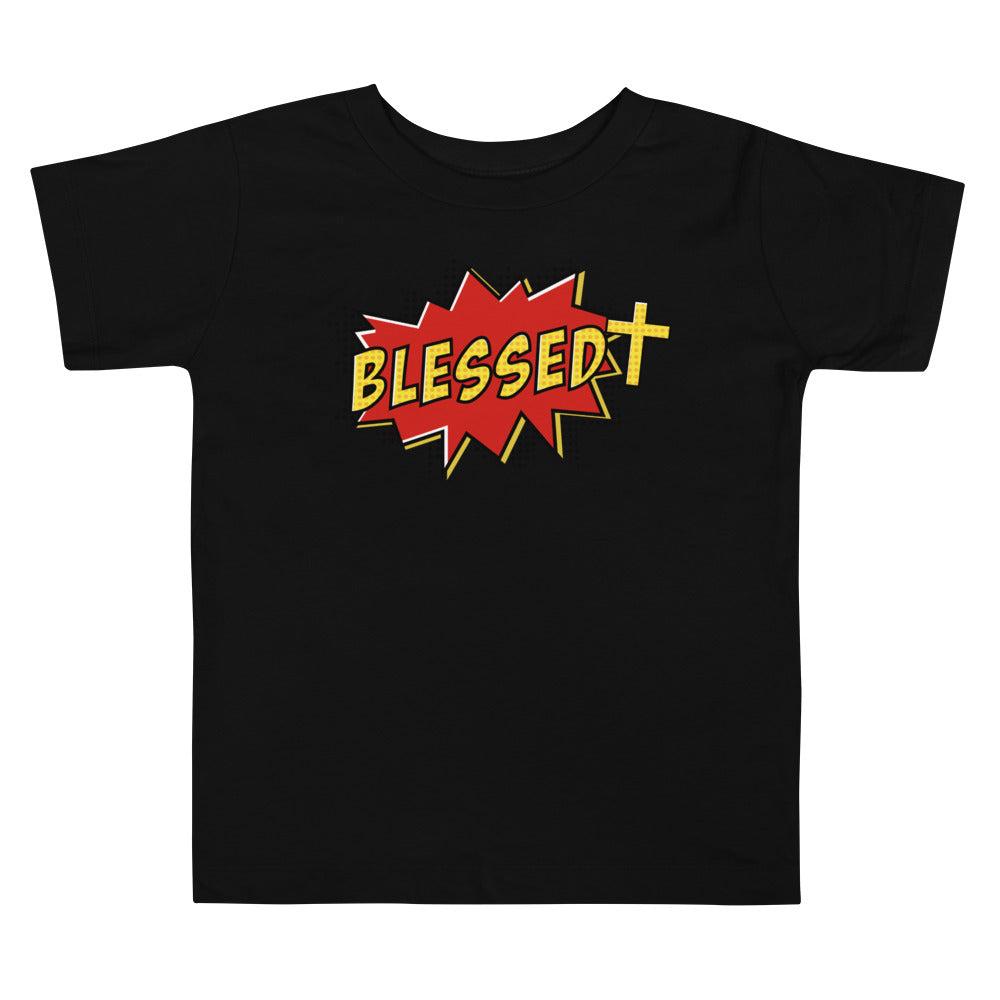 Christian Clothing Black Blessed Design Toddler T-shirt