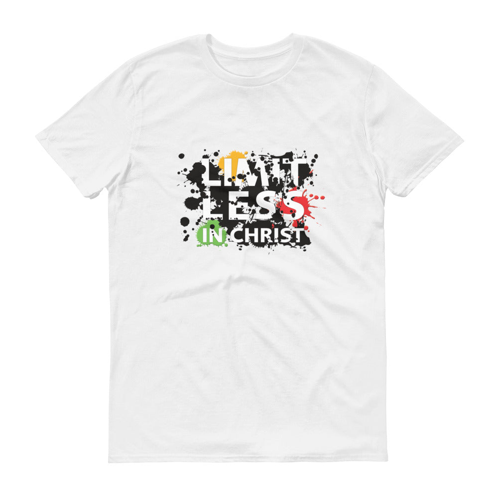 Christian Tees White Limitless Grafitti Design Tee