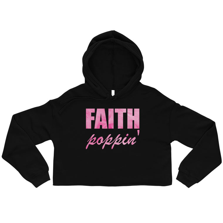 Faith Poppin' Cropped Hoodie - Candy Floss