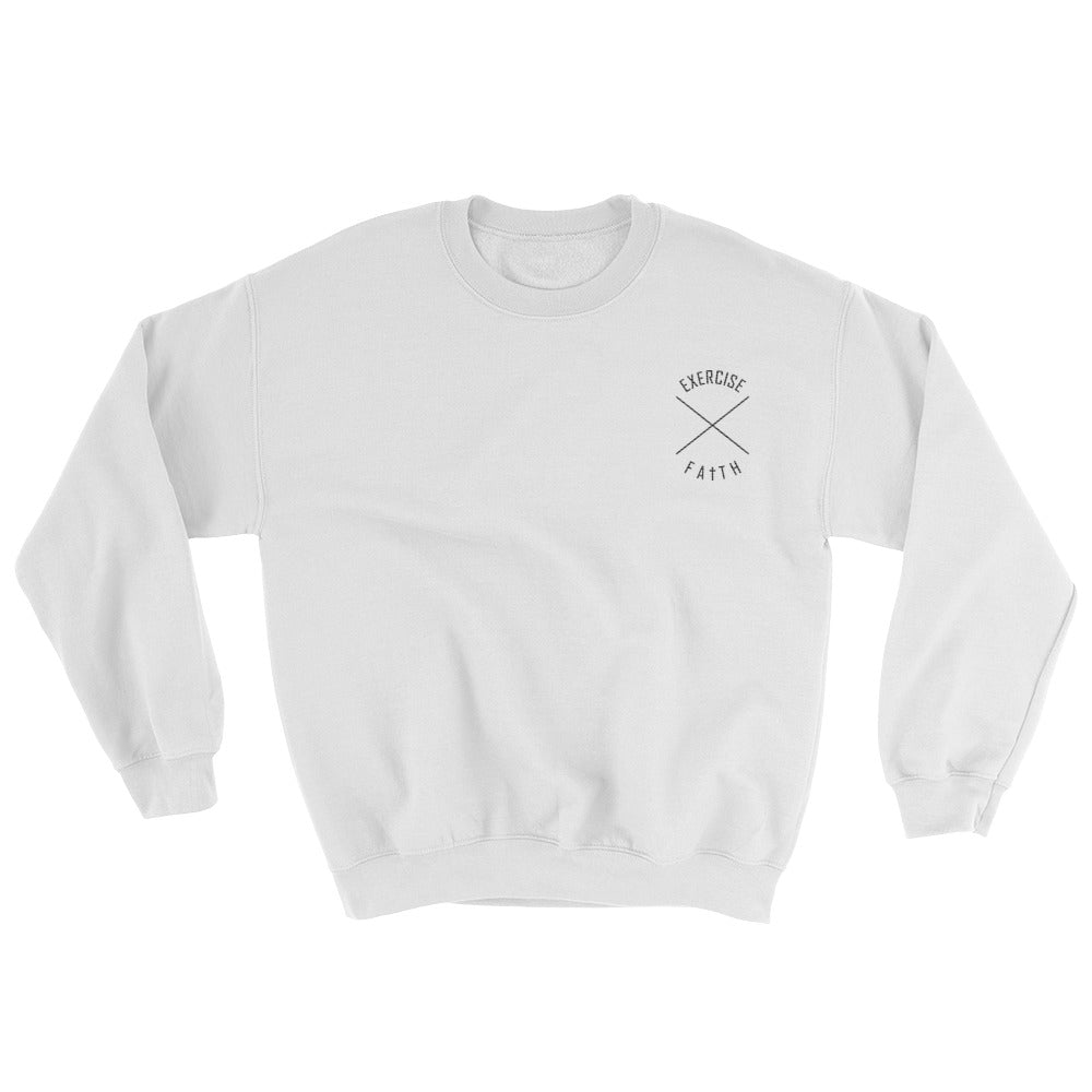 Christian Clothing White Exercise Faith Design Sweatshirt