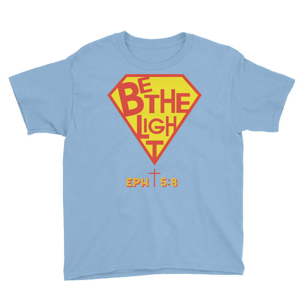 Christian Clothing Light Blue Be The Light Baby Tee