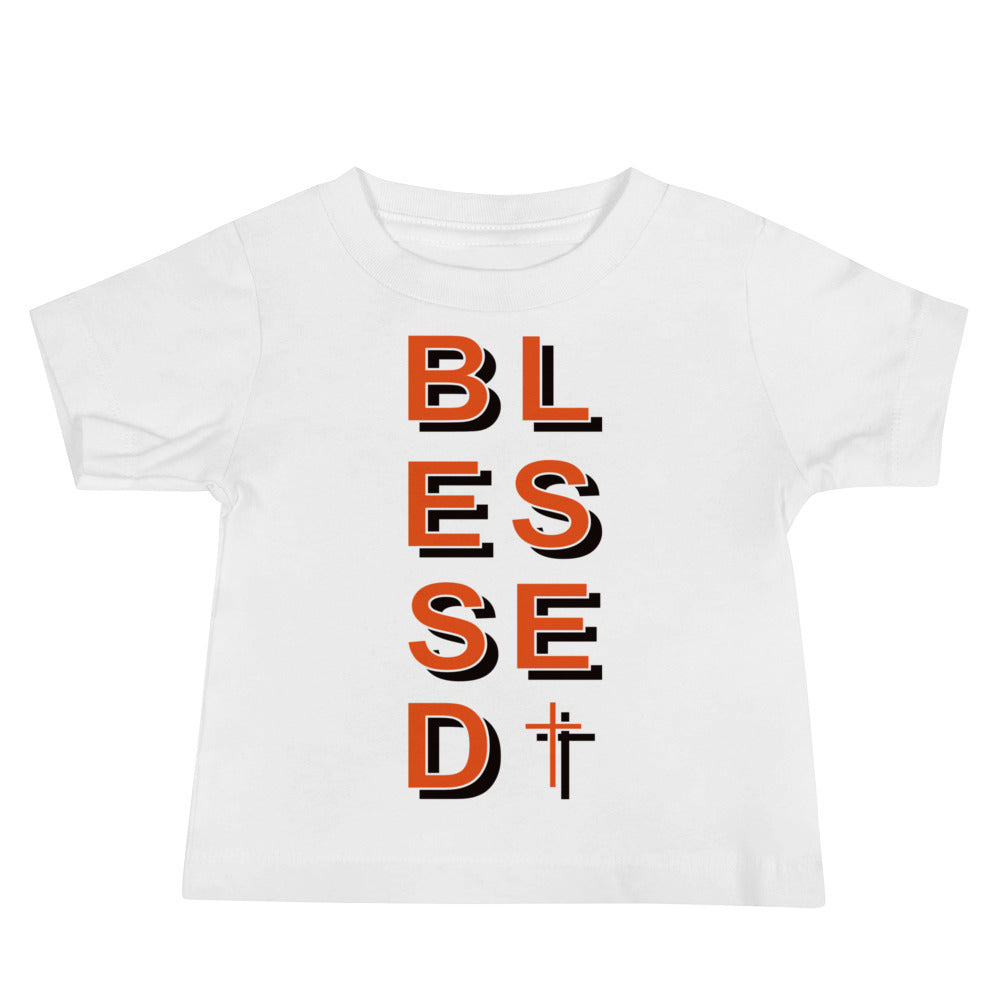 Christian Clothing White Blessed Baby Tee