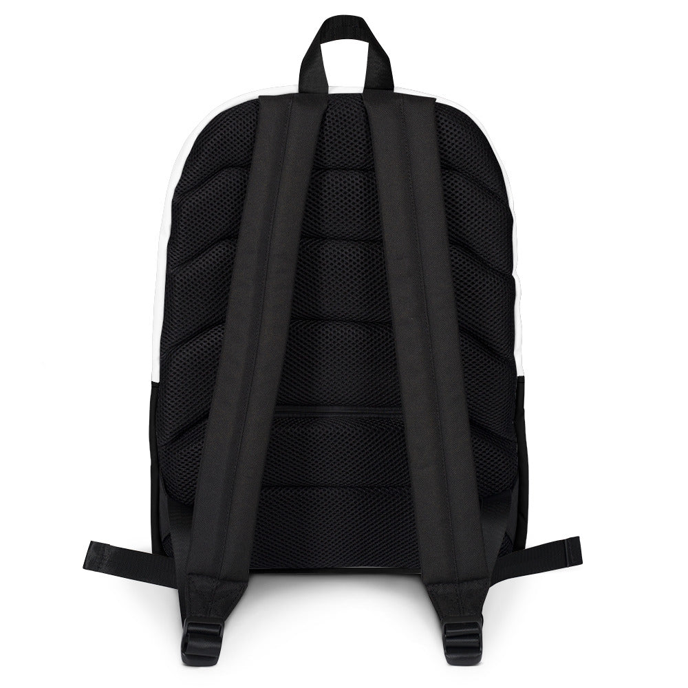 Christian Accesories Back of Godfirst Back pack black material with 2 handles