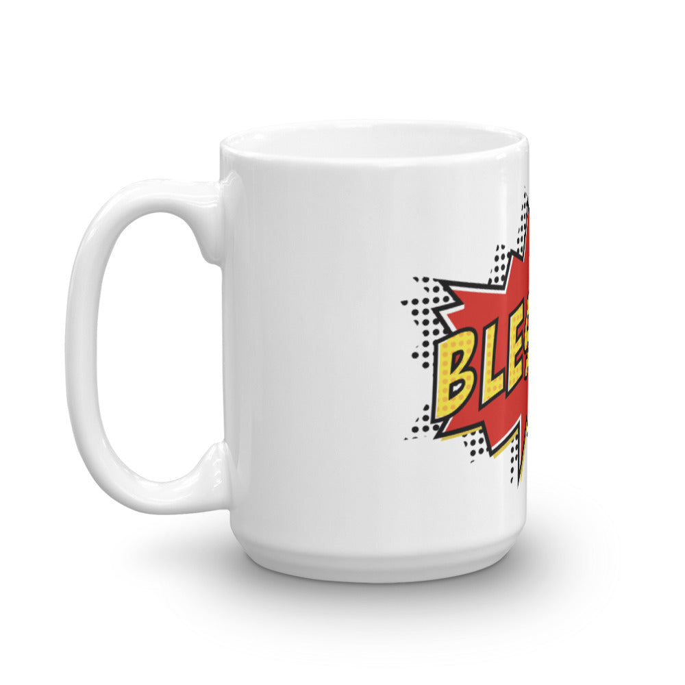 Christian Accessories Blessed Pop Art Design White Ceramic Mug