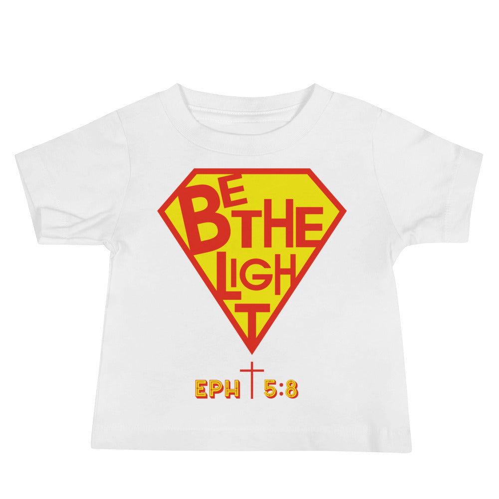 Christian Clothing White Be The Light Baby Tee