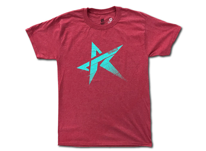 Logo T Heather Red