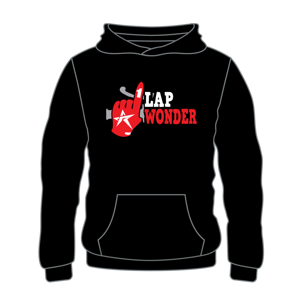 Personalized One Lap Wonder Hoodie Black