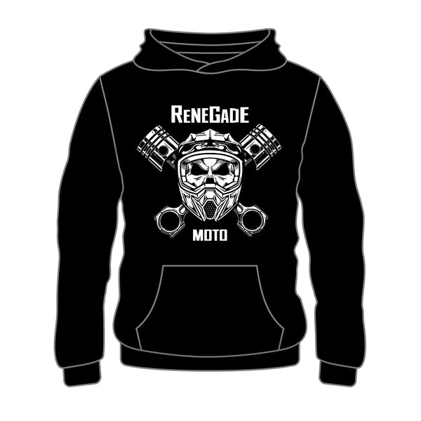 Personalized Piston Bones Hoodie Black