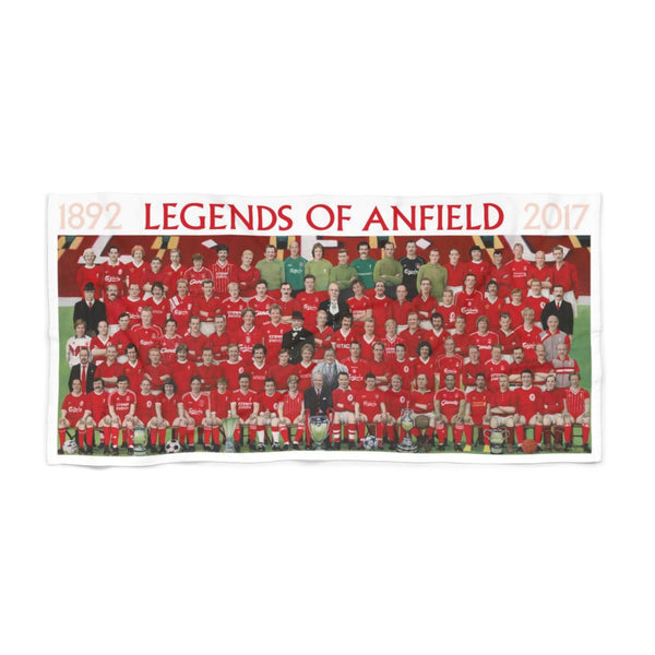 Legends Of Anfield Painting Beach Towel