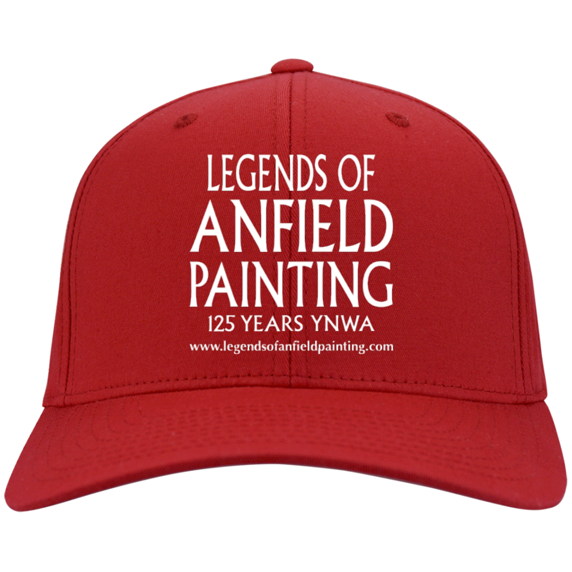 Legends Of Anfield Painting Twill Cap - Red - Legends of Anfield Painting