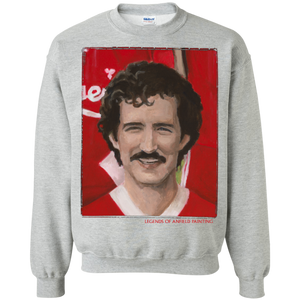 Legends Of Anfield Painting - Graeme Souness Crewneck Pullover Sweatshirt  8 oz. - Legends of Anfield Painting