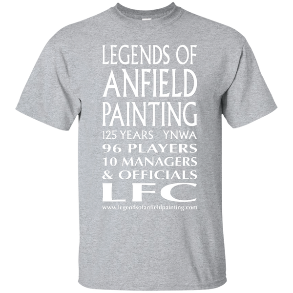 Legends Of Anfield Painting Cotton T-Shirt - White Text - Legends of Anfield Painting